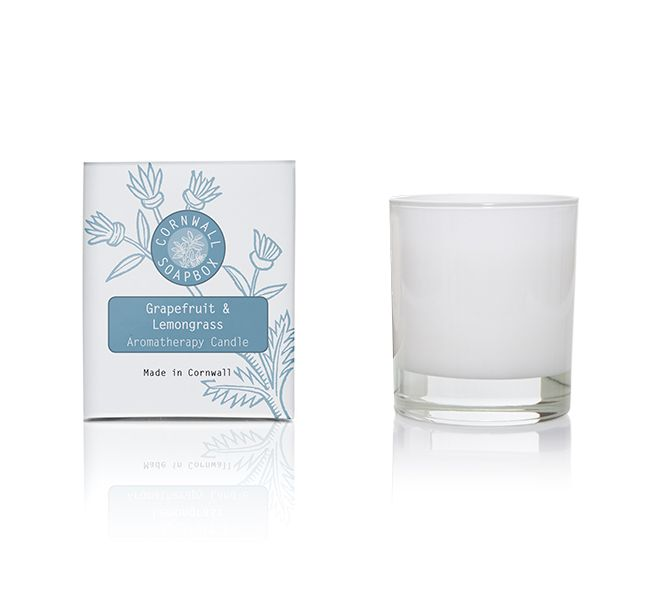 Grapefruit and Lemongrass Scented Aromatherapy Candle 60g