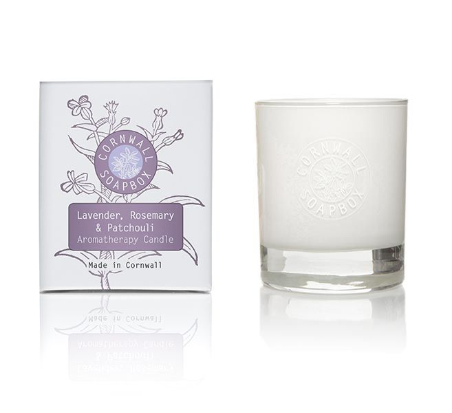 Lavender, Rosemary and Patchouli Glass Aromatherapy Candle