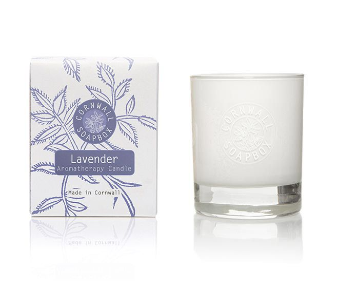 Lavender Glass Aromatherapy Candle