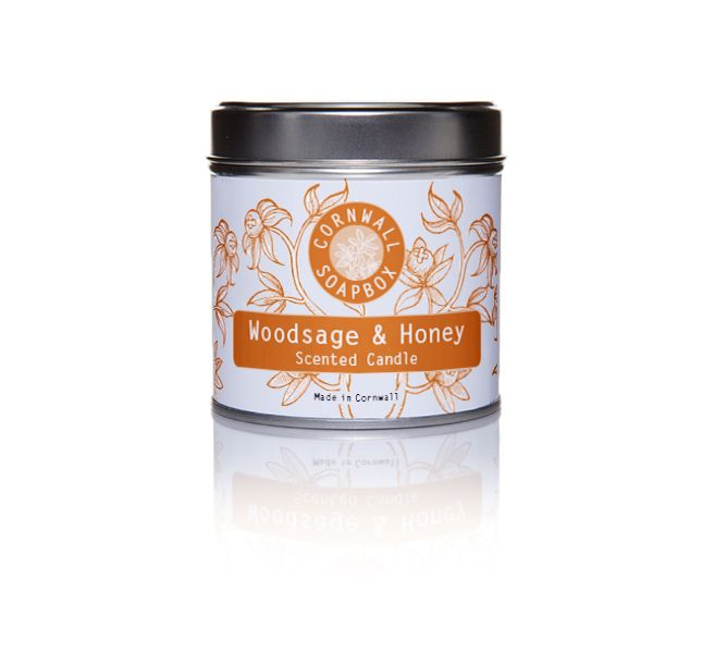 Woodsage and Honey Scented Candle